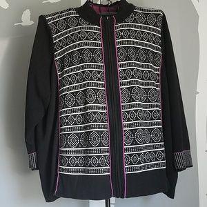 C J Banks Zipper Sweater Jacket